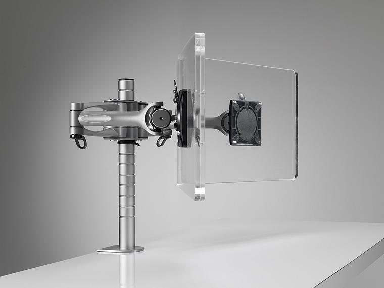 Rotule écran ou bras sur mat aluminium