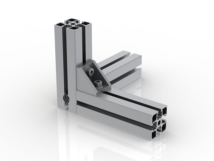 Structure modulaire aluminium pour mur d'écrans