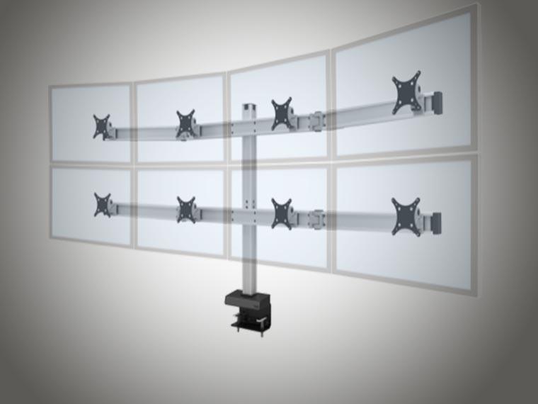 Support pour écrans réglables en hauteur